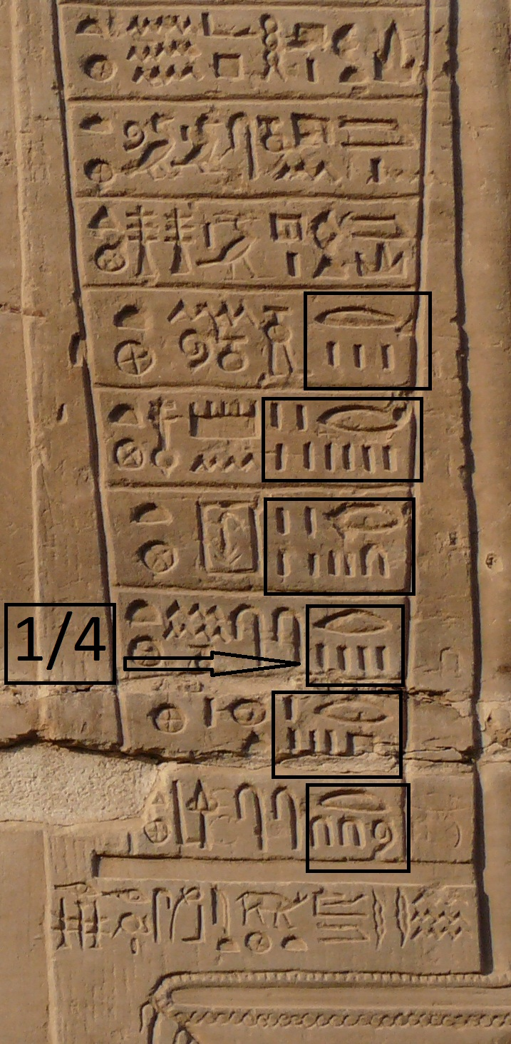 numeration egyptienne Kom Ombo3